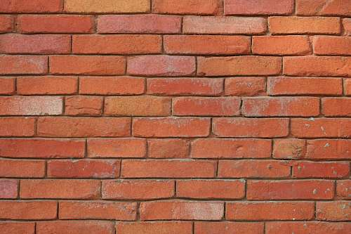 brown orange brick wall wall