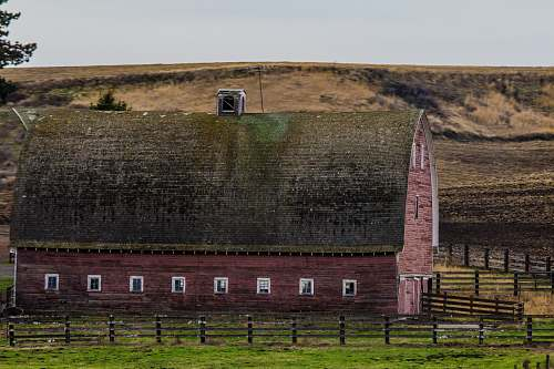 architecture red and black farm barn fort