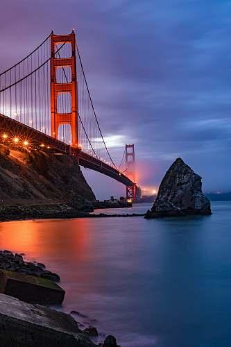 coast San Francisco Bridge, USA cloud