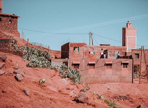 blue brown and white concrete building atlas mountains