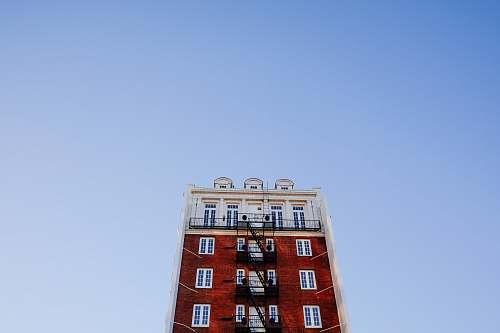 sky building under blue sky city