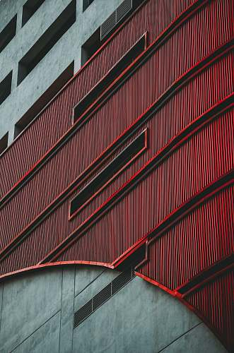 klang gray and red concrete building malaysia