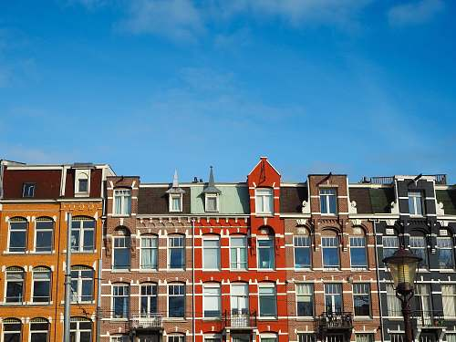 housing multicolored concrete building facade