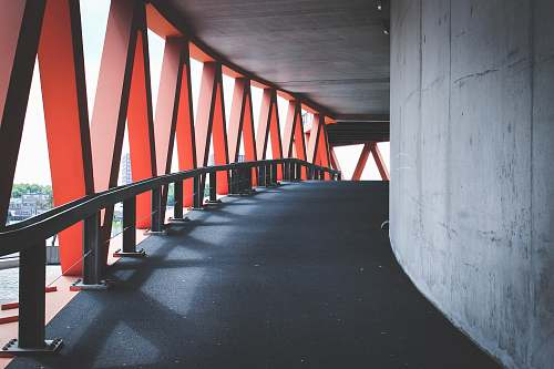 railing photography of under bridge architecture