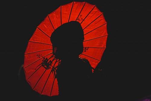 umbrella silhouette of person holding umbrella human