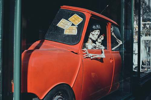 bath orange vehicle with skeletons united kingdom