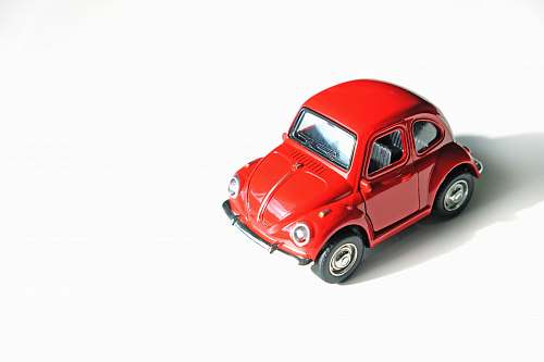 red red coupe die-cast model toy