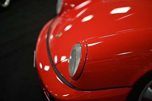 transportation red Porsche car automobile
