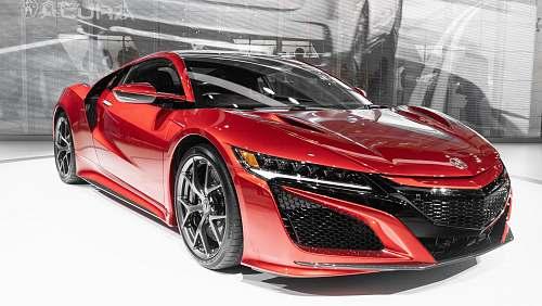 automobile red supercar transportation