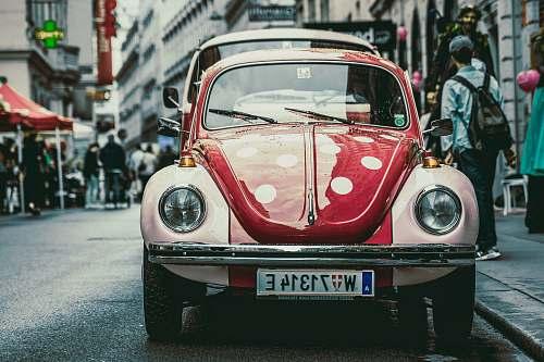 automobile red Volkswagen Beetle austria