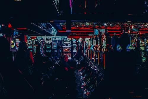 gamble multicolored casino interior slot machine