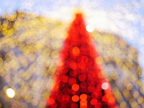 lighting red and yellow blur lights ornament