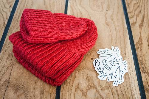 apparel red knit hat knitting