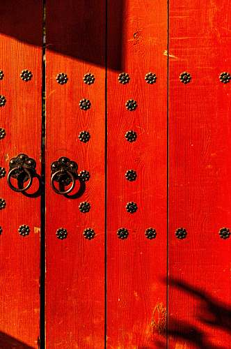 red red wooden gate south korea