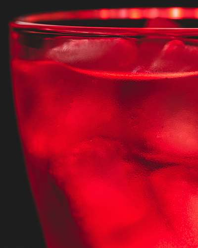 alcohol red-tinted glass cocktail