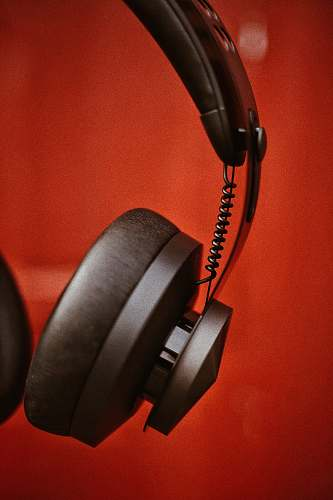 headset black cordless headphones headphones