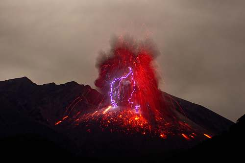 nature eruption of volcano sakurajima