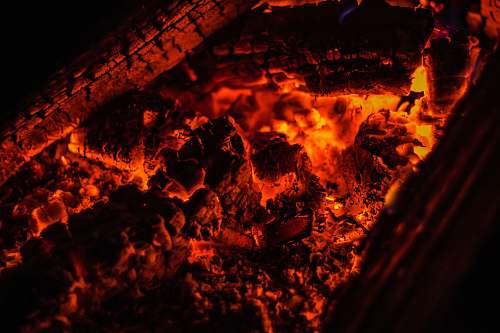 photo outdoors closeup photo of burning coal flame free for commercial use images