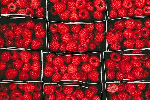 fruit bunch of raspberries raspberry