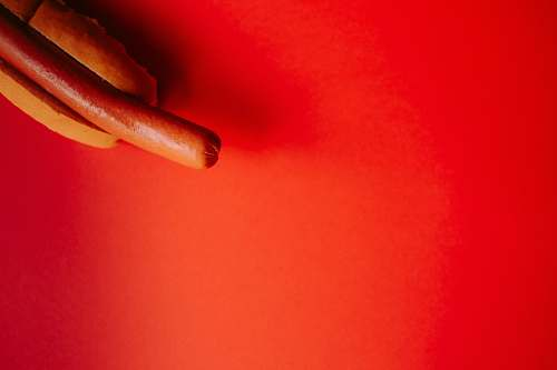red hotdog sandwich hotdog