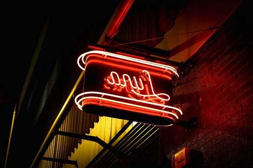 diner red Luna neon light signage during night time meal