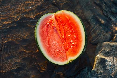 fruit sliced watermelon produce