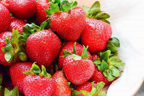 fruit strawberries on white bowl strawberry