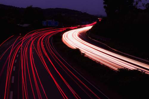 road time-lapse photo of highway germany