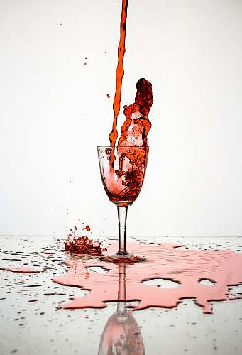 wine red liquid poured on wine glass alcohol