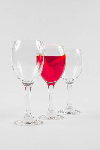 wine three clear glass wine glasses wine glass
