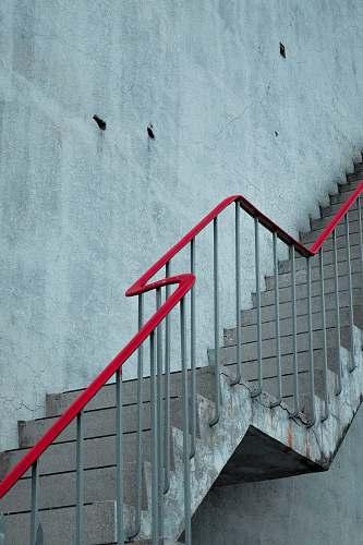 railing grey and red metal rail stair taiwan