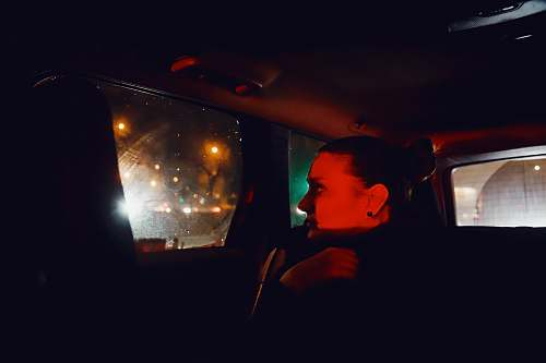person man inside car krakow