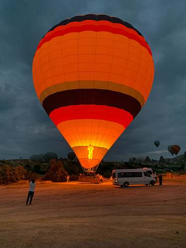 ball orange hot air balloon balloon