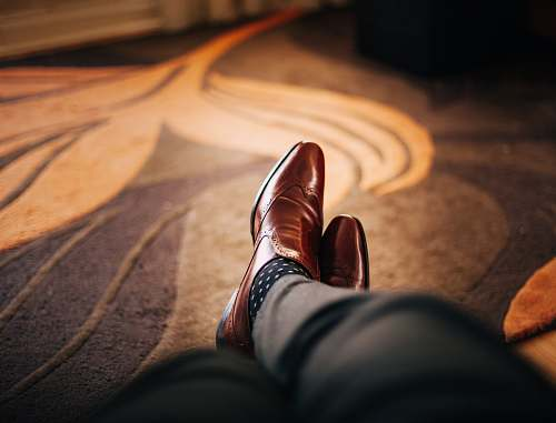 shoe pair of brown leather dress shoes fashion