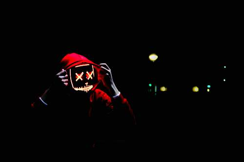 person person wearing hoodie and neon mask netherlands
