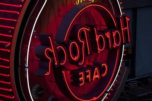 neon round red hard Rock Cafe signage yokohama