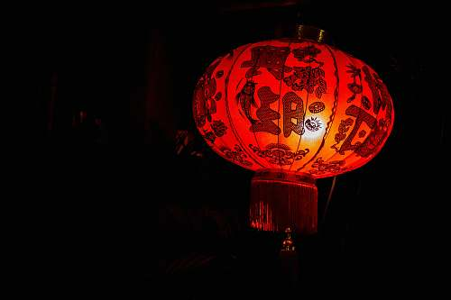 lantern lighted red lantern lampshade