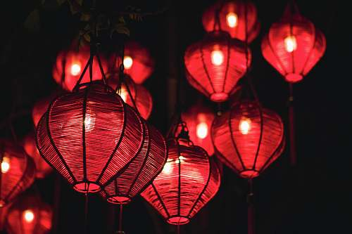 photo lampshade red pendant lamp vietnam free for commercial use images