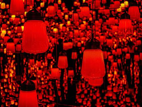 photo lampshade red pendant lamps mori building digital art museum: epson teamlab borderless free for commercial use images