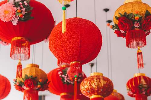 malaysia hanged red ball lantern decor
