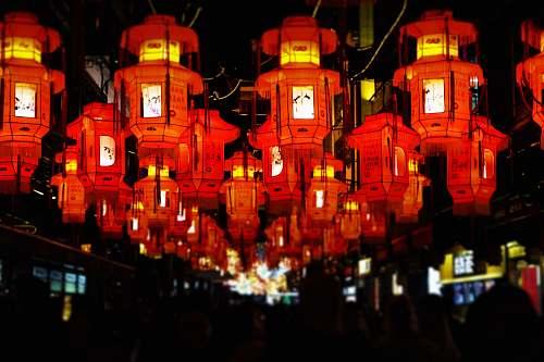 lamp hanging lanterns night