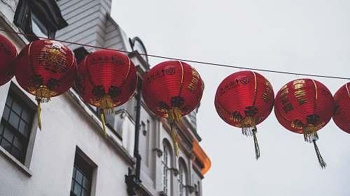 lamp red japanese hanging lanterns london