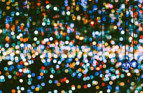 paper blue hanging lights confetti