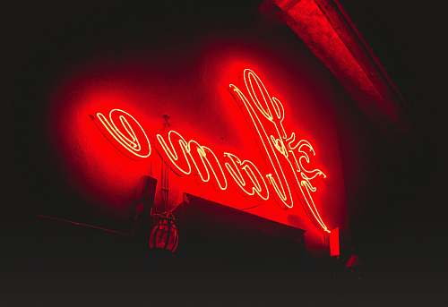 neon Flame neon light signage red