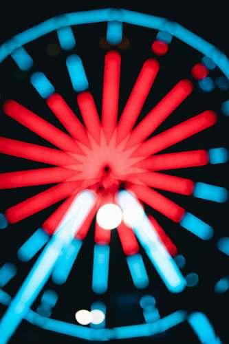 neon lighted Ferris wheel flare