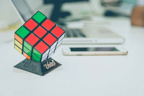 providencia 3X3 Rubik's cube on top of desk chile