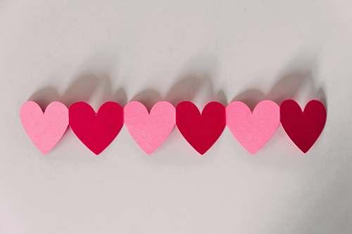 paper pink heart art valentine