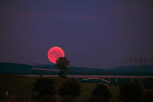 night photo of eclipse sky