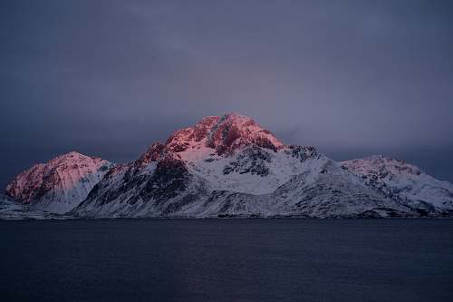 nature glacier mountains near sea snow