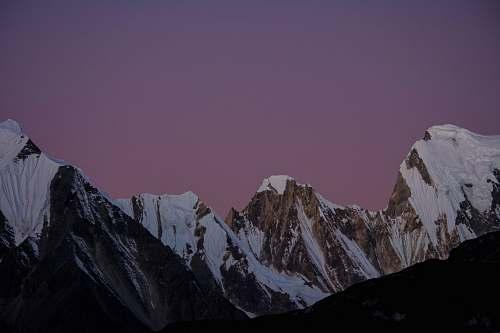 outdoors landscape photo of snow-capped mountain mountain range